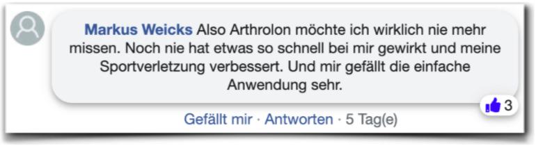 Arthrolon Erfahrungen Erfahrungsberichte facebook