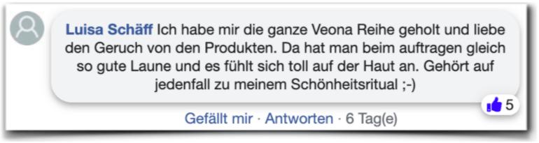 Veona Erfahrungen Kundenbewertungen facebook