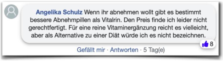Vitalrin Erfahrungsberichte Kritik Vitalrin