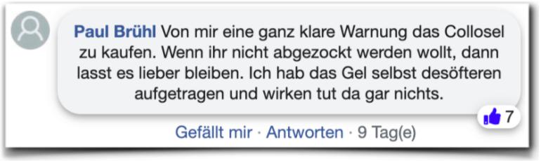 Collosel Erfahrungsberichte Kritik Collosel