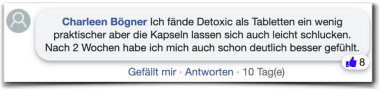 Detoxic Erfahrungen Erfahrungsberichte facebook