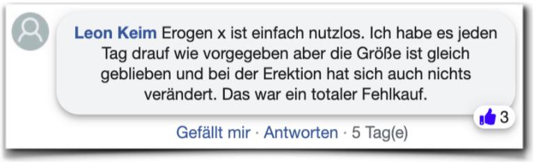 Erogen x Erfahrungen Bewertungen facebook