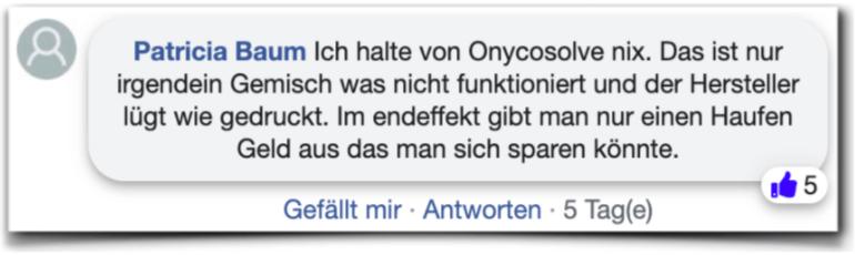 Onycosolve Bewertungen Erfahrungen facebook