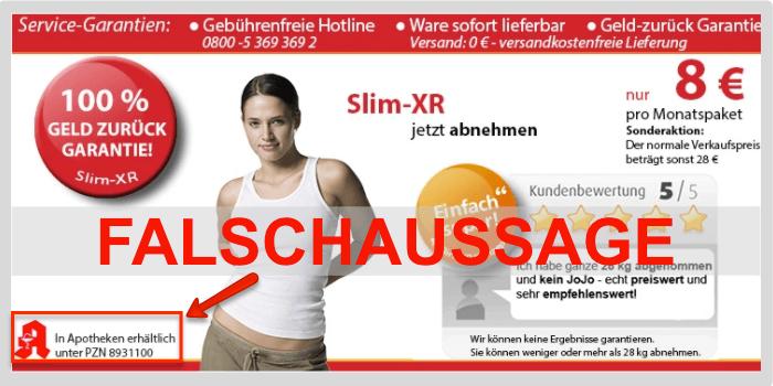 Slim XR PZN Falschaussage