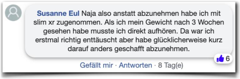 Slim xr Erfahrungen Bewertungen facebook