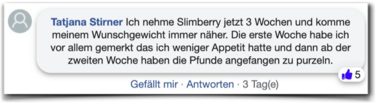 Slimberry Erfahrungen Bewertung facebook