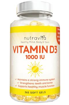 Nutravita Vitamin D3 Tabelle