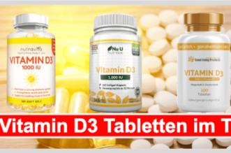 Vitamin D3 Tabletten Titelbild