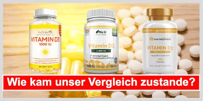 Vitamin D3 Tabletten Vergleich