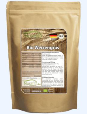 Nurafit Weizengraspulver Tabelle