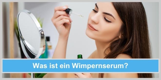 wimpfernserum auftragen junge frau spiegel kosmetik schminken wimpern serum