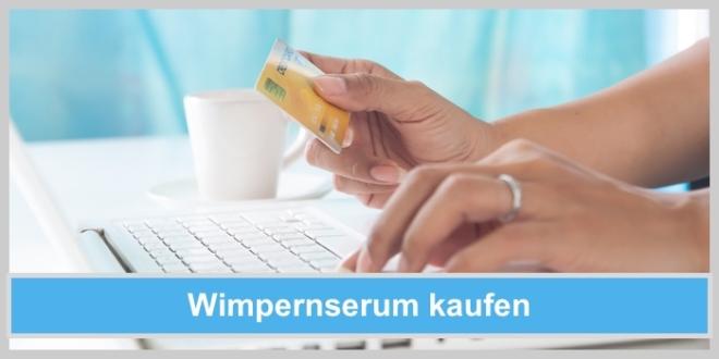 wimpernserum kaufen online kreditkarte bankkarte hand frau laptop shopping
