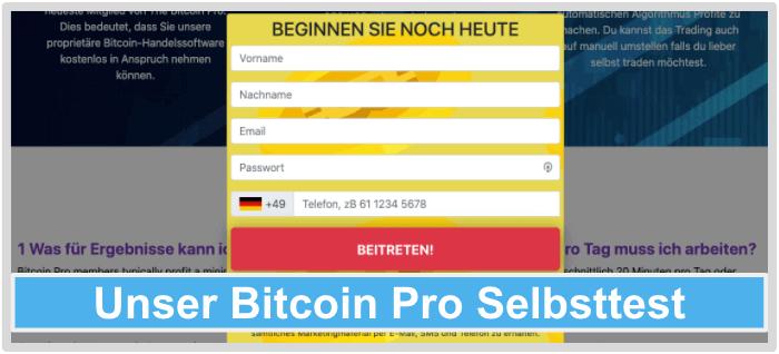 Bitcoin-Pro-Test