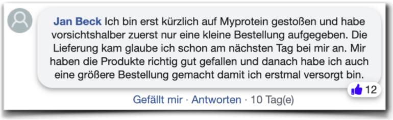 Myprotein Erfahrungsbericht Erfahrung Myprotein