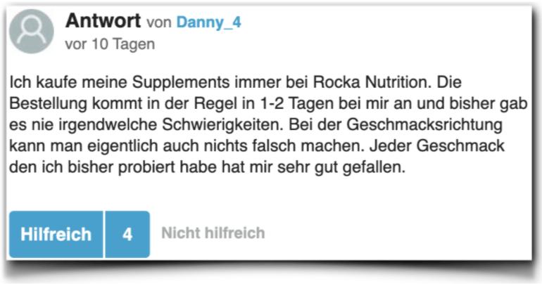 Rocka Nutrition Erfahrungen Erfahrungsberichte gutefrage