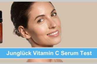 junglück vitamin c serum schöne frau reine haut braune haare weiße zähne