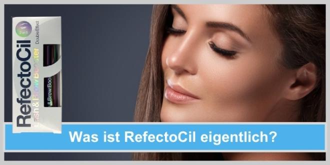 refectocil brow booster lash serum frau hübsch gesicht